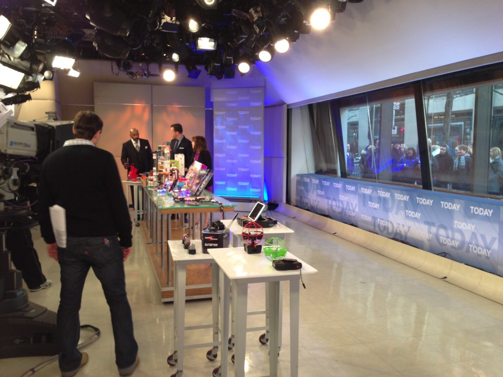 At the Today Show talking toys with Willie Geist and Steve Harvey