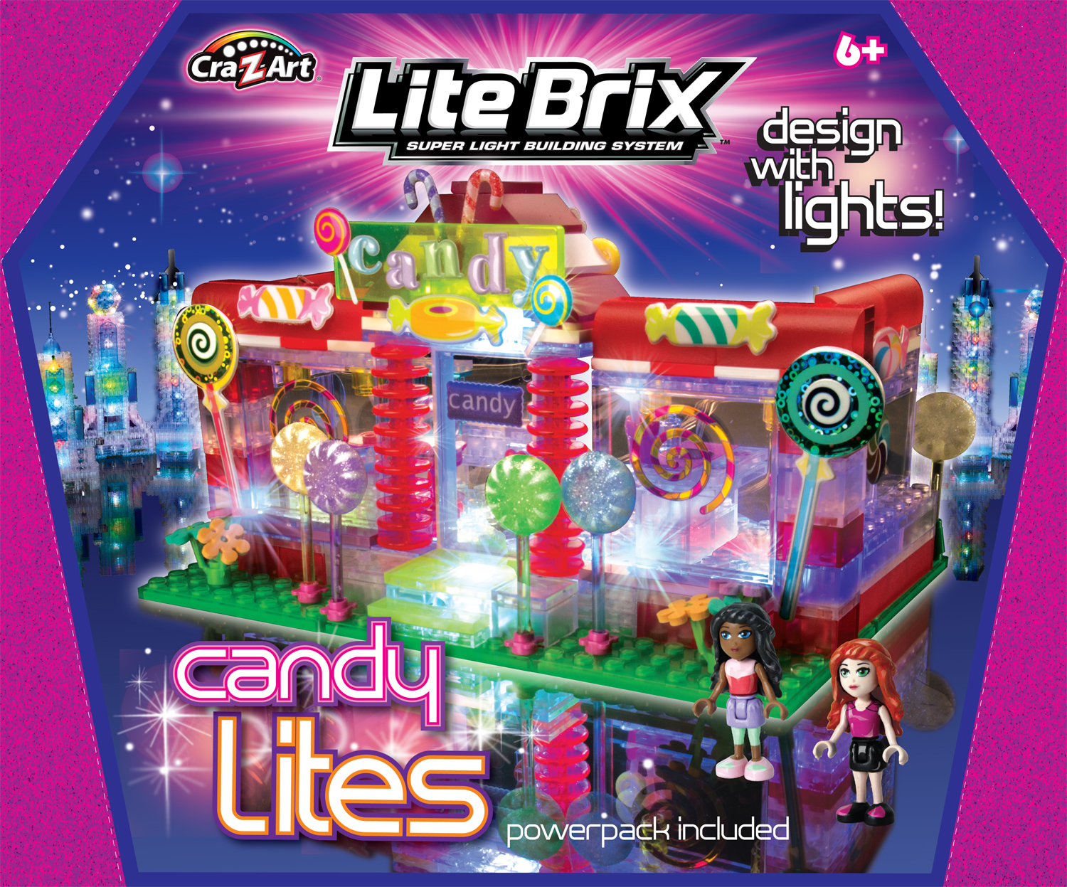 LIte Brix Candy Lites (store) targeted as part of the girls line from Cra-Z-art